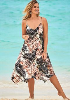 Penny Dune V-Neck Cover Up Midi Dress,