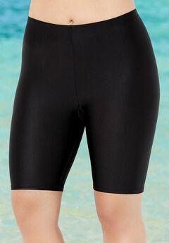 Chlorine Resistant Lycra Xtra Life Black Long Bike Short,