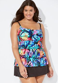 Longitude Daybreak Ruffle Swimdress,