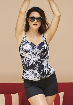 Draped Tankini Top,