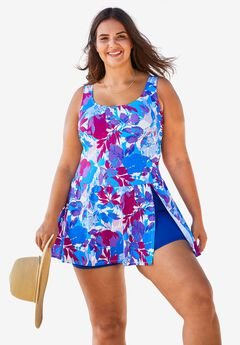 Slit swimdress by Swim 365®,