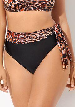 Shirred High Waist Bikini Bottom,