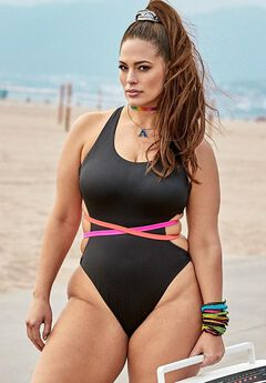 Ashley Graham x Swimsuits For All Throwback One Piece Swimsuit,