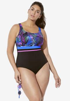 Empire-Waist Swimsuit by Aquabelle,