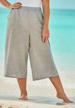 Wide-Leg Culotte Pant,