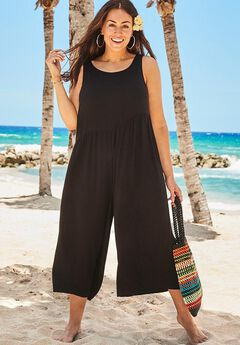 Jumpsuit with Low Back, BLACK
