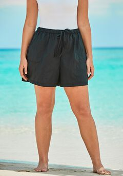 Taslon® Swim Short with Elastic Waist,