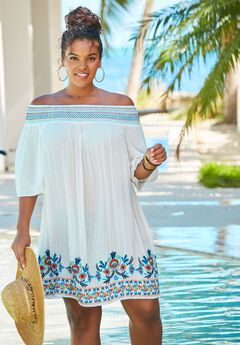Off-The-Shoulder Coverup,