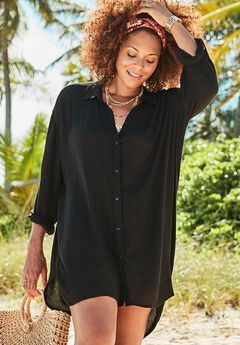 Shea High-Low Button Front Shirt,