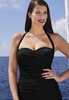 Convertible Swim Top, BLACK