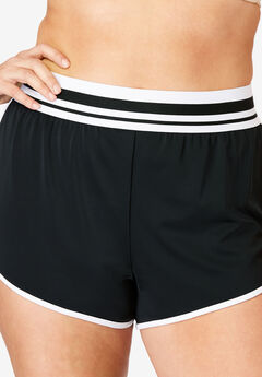 Sporty Swim Boyshort, BLACK