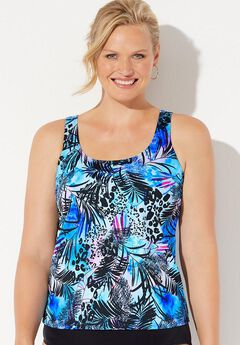 Scoop strap swim tankini,