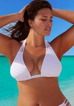 Triangle Bikini Top, WHITE