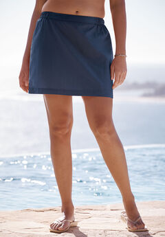 Taslon® Swim Skirt, NAVY