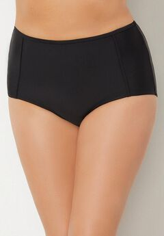 High Waist Piped Swim Brief,