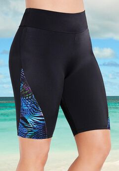 Chlorine Resistant Lycra Xtra Life Waterfall Long Bike Short ,