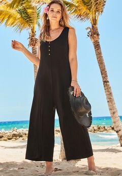 Isla Jumpsuit Cover Up, BLACK