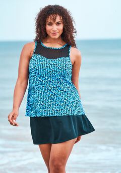 High-Neck Swim Tankini Top by Trimshaper® by Miraclebrand,