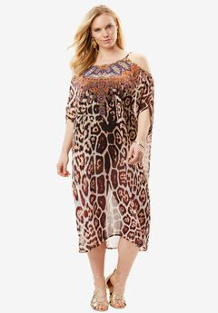 V-Neck Leopard Coverup,