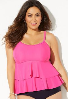 Pinpoint Tiered  Swim Top,