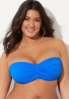 Valentine Ruched Bandeau Bikini Top,