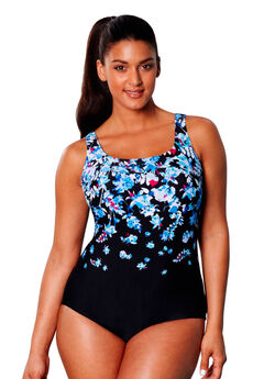 Floral Print Maillot,