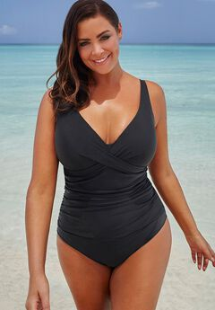 Twist-Front Swimsuit,