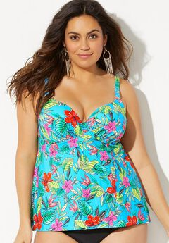 36576de4dd3 Bra Sized Flyaway Underwire Tankini Top. Swimsuits for All