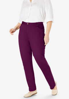 Perfect Straight Leg Jean, DARK BERRY