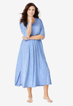 Long Marled Sleepshirt by Dreams & Co.®, FRENCH BLUE