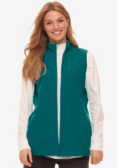 Microfleece Zip-Front Vest,