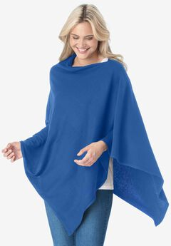 Fine gauge poncho sweater,