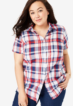 46181e5221182 Plus Size Short Sleeve Shirts   Blouses for Women