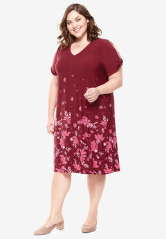 Twist-Sleeve Dress,