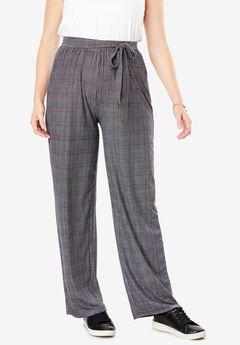 Front Tie Cozy Wide Leg Pant,