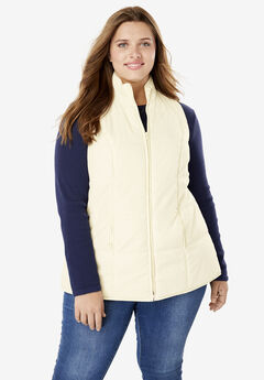 Quilted Vest, IVORY