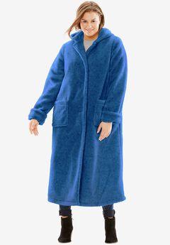 Hooded Berber Fleece Duster Coat,