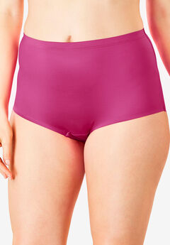 No-Show Full-Cut Brief by Comfort Choice®, BRIGHT BERRY