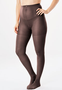 2-Pack Control Top Tights by Comfort Choice®, DARK COFFEE