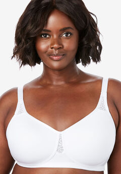 Stay-Cool Wireless T-Shirt Bra by Comfort Choice®, WHITE
