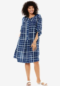 Trapeze shirt dress,