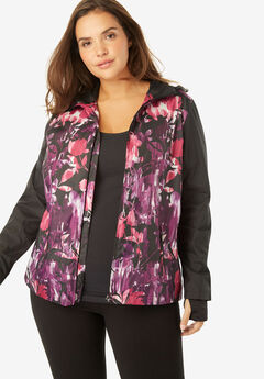Floral Hooded Jacket,