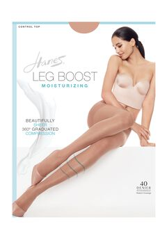 Hanes Silk Reflections Leg Boost Moisturizing Hosiery,