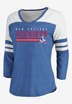 NFL® Long Sleeve Yoked V Tee with Army Stripes, GIANTS