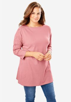 Button Sleeve Tunic,