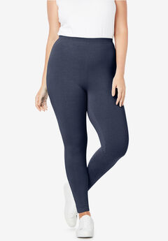 Stretch Cotton Legging, NAVY