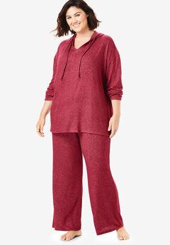 Dreams & Co.® Supersoft Wide Leg Lounge Pant, POMEGRANATE