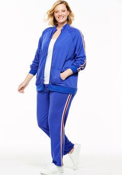 Cozy Fleece Side-Stripe Jacket,