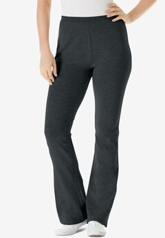 Stretch Cotton Bootcut Yoga Pant,