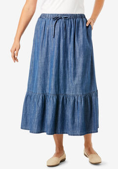 a5a23269b7 Plus Size Denim Dresses & Skirts | Full Beauty